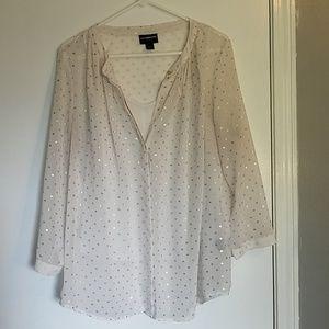Sheer Polka Dot Dress Top